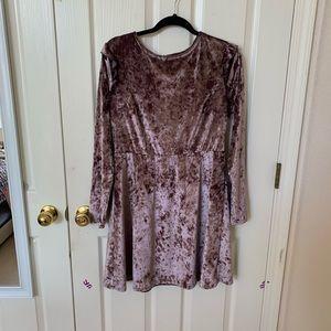 Pink/purple velvet dress